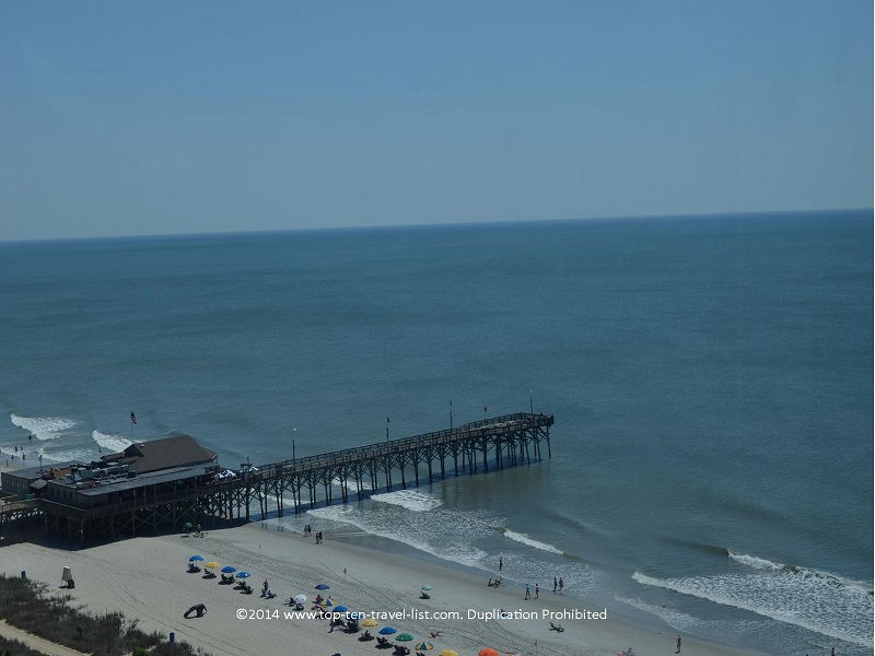 A view of Pier 14 from the Myrtle Beach SkyWheel