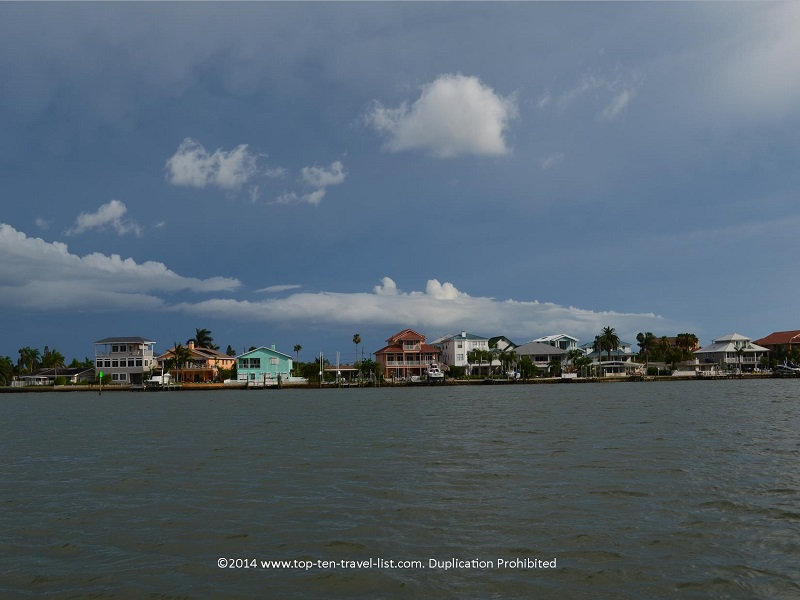 Gorgeous colorful homes - Hubbard's Marina cruise in Madeira Beach, Florida