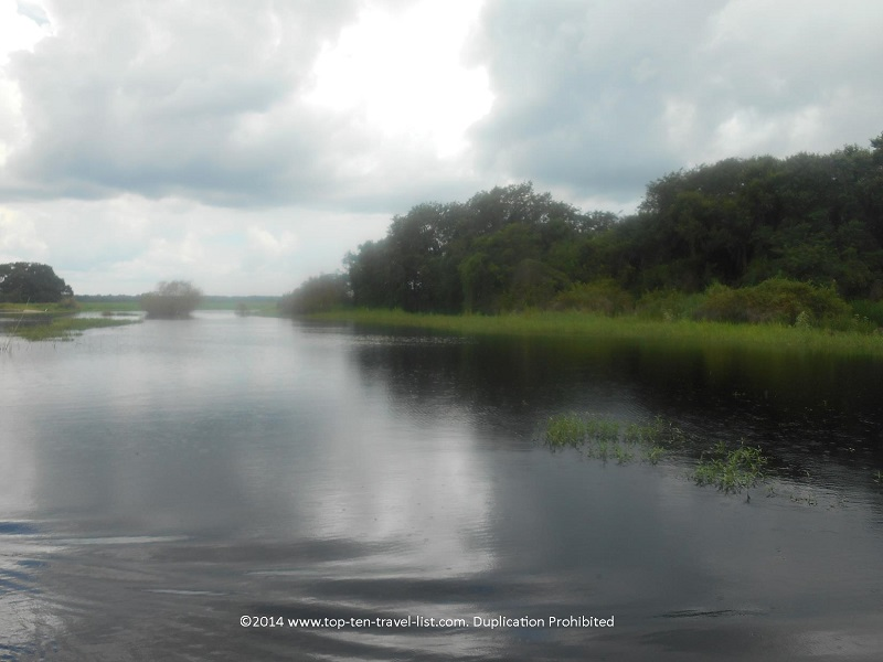 A cloudy day on Upper Myakka Lake - taken from the Gator Gal airboat ride