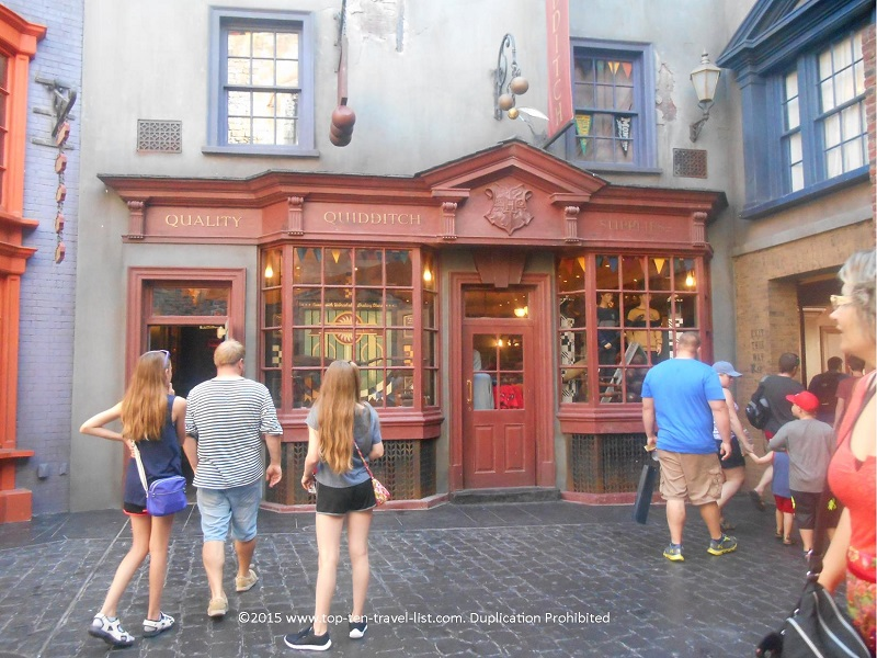 Quality Quidditch Supplies at Diagon Alley in Universal Studios Orlando, Florida