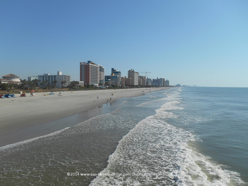 Smooth sand at beautiful Myrtle Beach