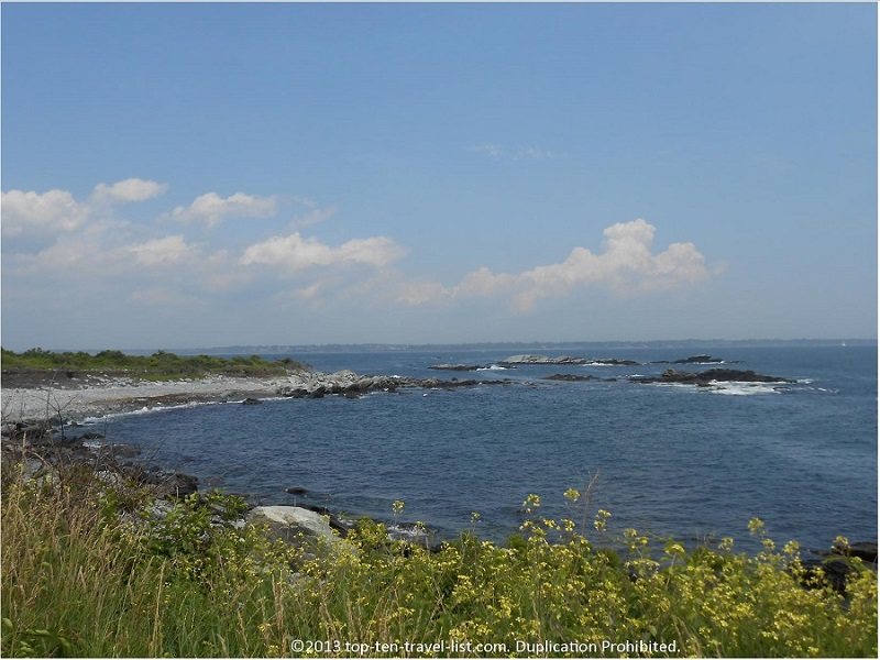 Pretty views along the trail at Sachuest Point Wildlife Refuge - Middletown, Rhode Island