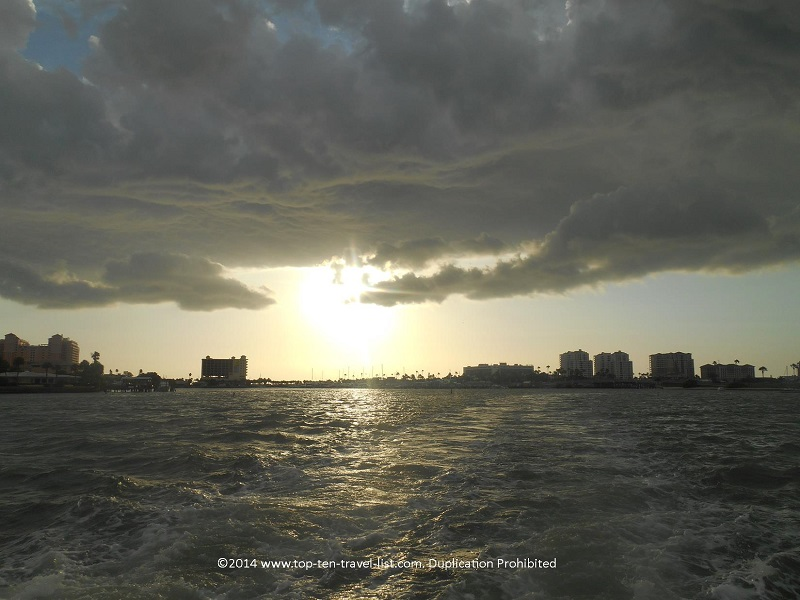 Storm clouds in Clearwater, Florida - Tropics Boat Tours