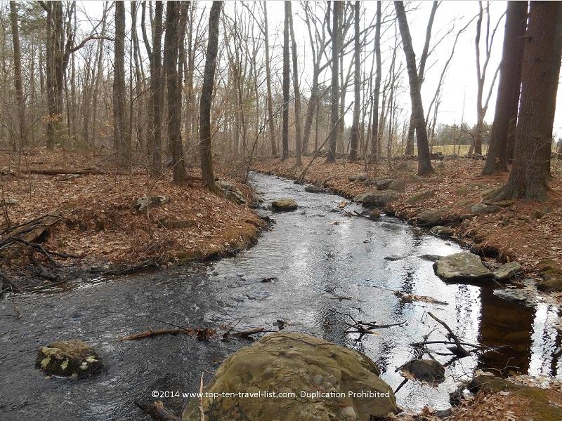 Beautiful stream views at Caratunk Wildlife Refuge in Seekonk, Massachusetts