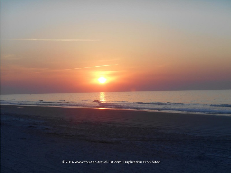 A gorgeous sunrise in Myrtle Beach, South Carolina