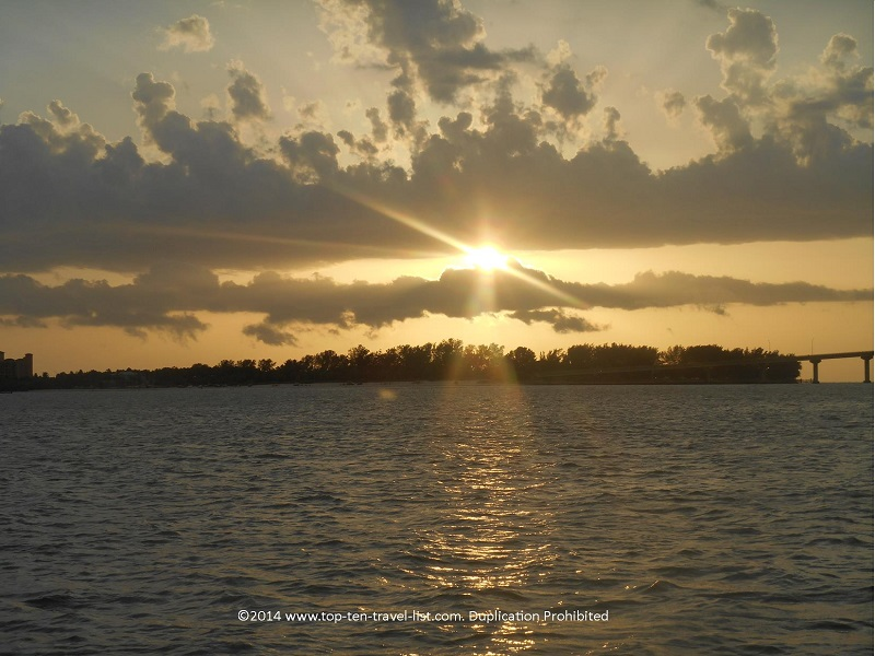Sunset in Clearwater, Florida - Tropics Boat Tours Sunset Cruise