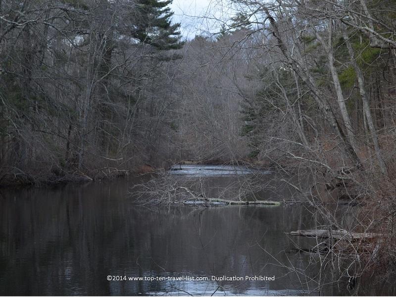 Serene views of the river at Gertrude M. Boyden Wildlife Refuge - Massachusetts