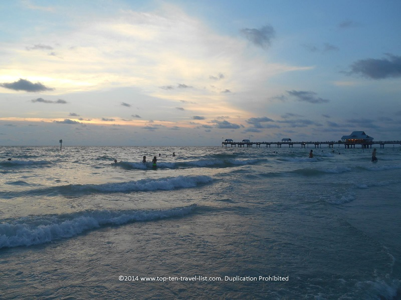 Swimming at Clearwater Beach - Florida Gulf Coast