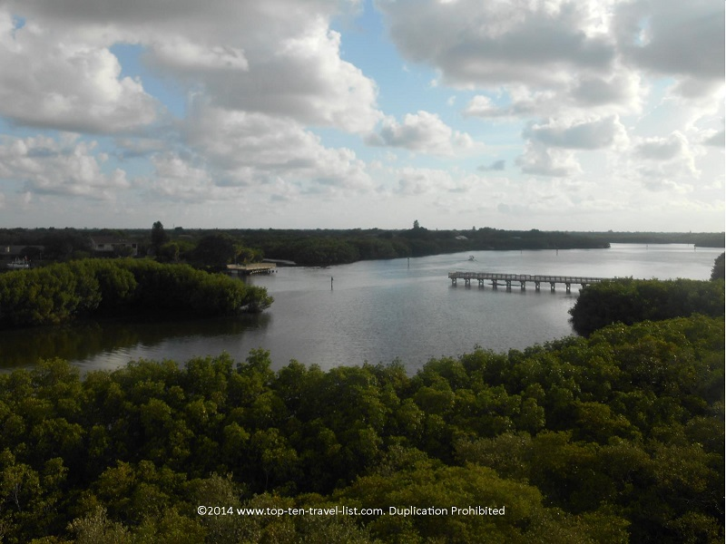 Views from observation tower at Weedon Island Preserve - St. Petersburg, Florida