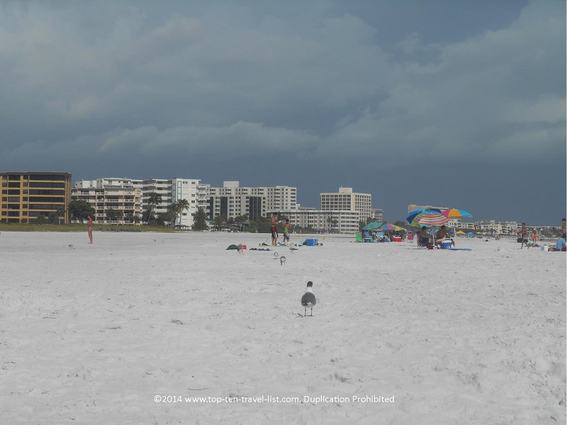 Nice wide stretch of sand at Sarasota's Siesta Key Beach