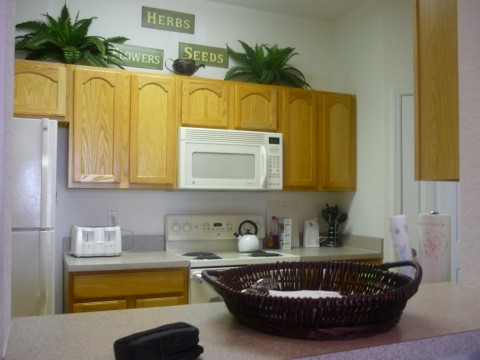 Windsor Hills it the best place for longer Orlando stays. The full kitchen will definitely help you save a few bucks!