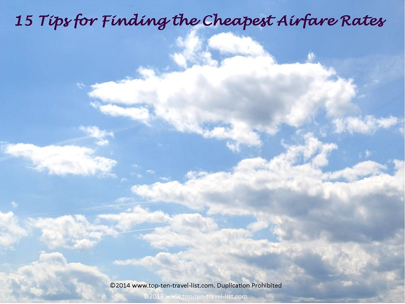 15 tips for finding the cheapest airfare
