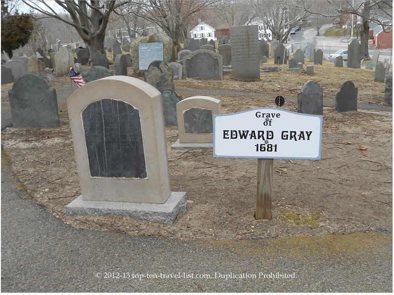 Edward Gray - 1st grave in Plymouth's Burial Hill