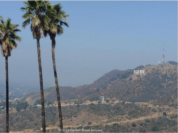 Views of the Hollywood sign from the Griffith Observatory hike in Los Angeles