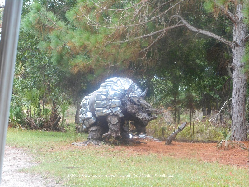 Armadillo sculpture at Boyd Hill Nature Preserve in St. Petersburg, Florida