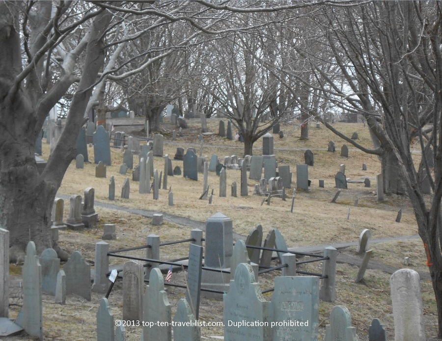 Burial Hill in Plymouth, Massachusetts - 2nd oldest US cemetery