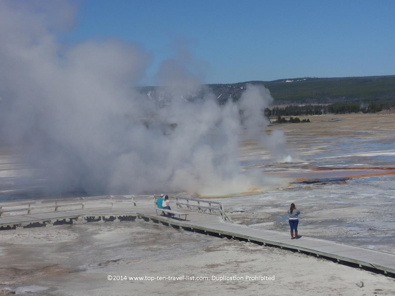 Thermal pools in Yellowstone National Park