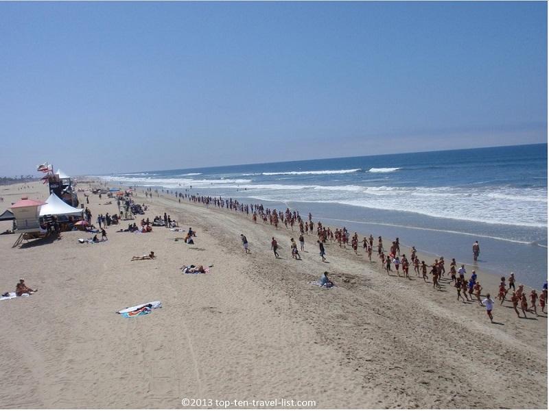 Views of the beautiful Pacific Coast from the Huntington Beach Bike Path