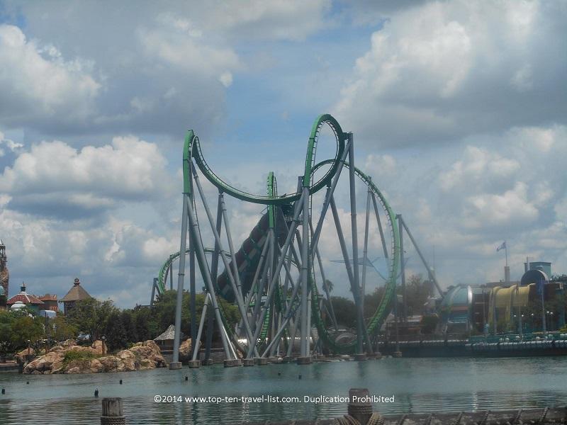 The Incredible Hulk Coaster at Islands of Adventure - Orlando, Florida