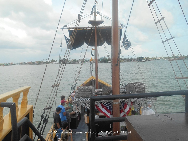 View of the inside of The Pirate Ship at John's Pass - Madeira Beach, Florida
