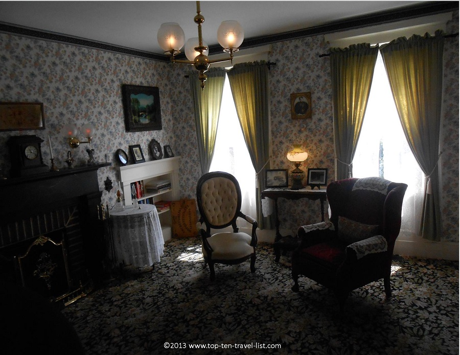 Creepy sitting room in the Lizzie Borden House - Fall River, Massachusetts