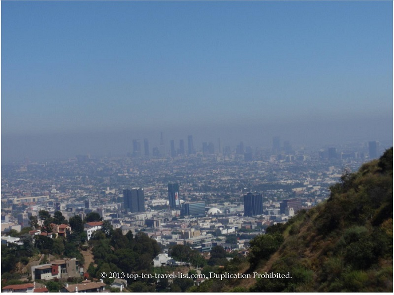 Views of Los Angeles from the Runyon Canyon hike