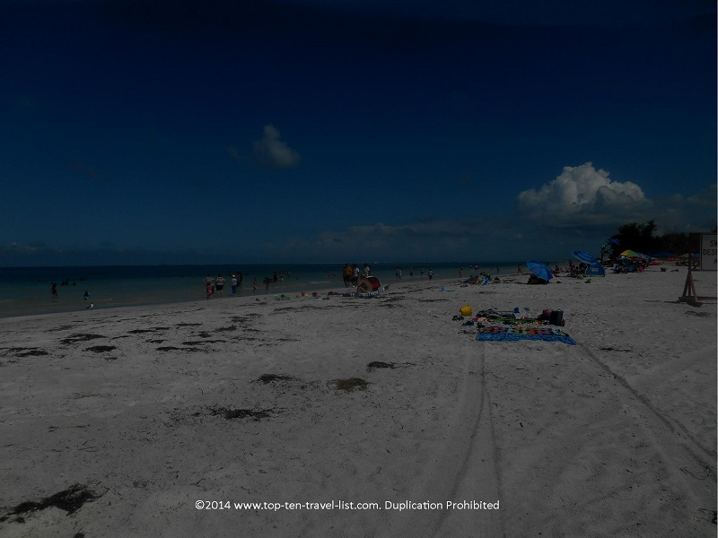 North Beach - a white, sandy smooth beach at Fort De Soto Park - St. Petersburg, Florida
