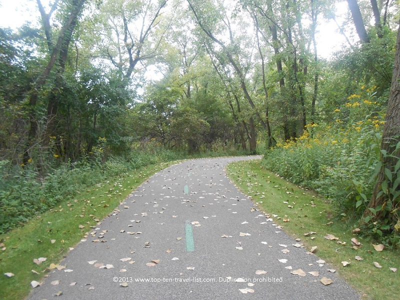 A view from the Cuyahoga Valley section of the Erie and Ohio Canal Towpath Trail