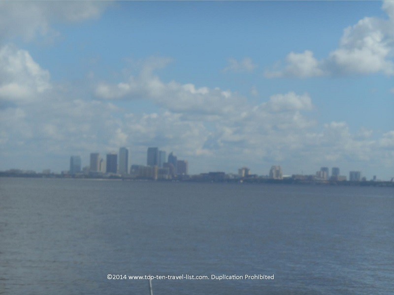 Tampa skyline from the Bayshore Blvd. path