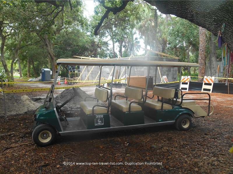 Tram ride at Boyd Hill Nature Preserve in St. Petersburg, Florida