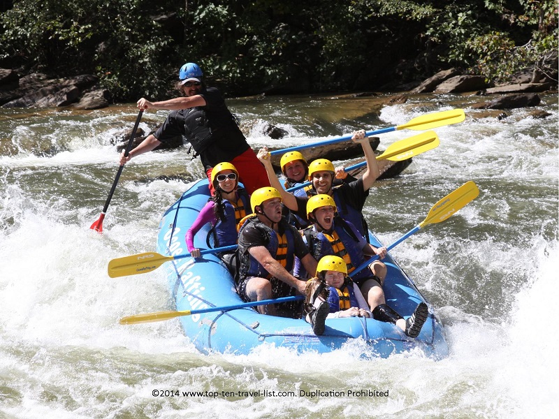 Whitewater rafting on the Ocoee River in Tennessee