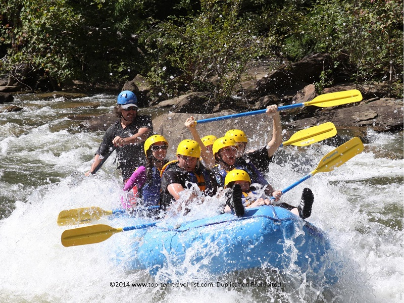 A fun rafting trip on Tennessee's Ocoee River