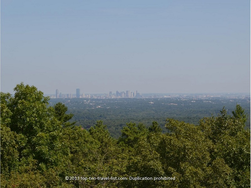 Views of Boston skyline from Blue Hills Reservation