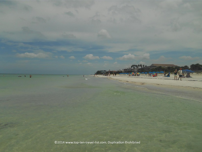 Clear water at Florida's Indian Rocks Beach