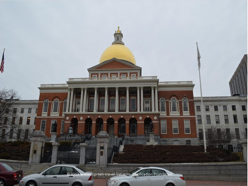 Massachusetts State House on Boston's Freedom Trail