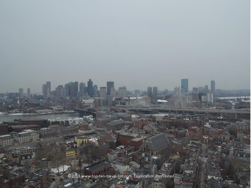 Incredible skyline views via the Bunker Hill Monument in Boston, MA