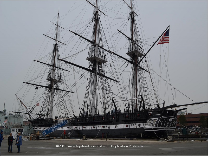 USS Constitution on Boston's Freedom Trail