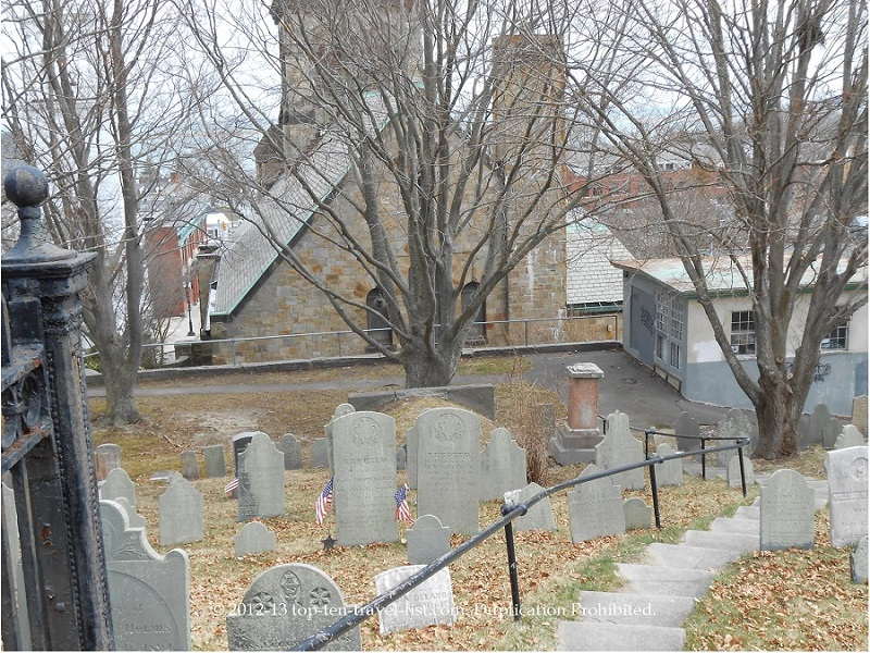 Burial Hill in Plymouth, Massachusetts