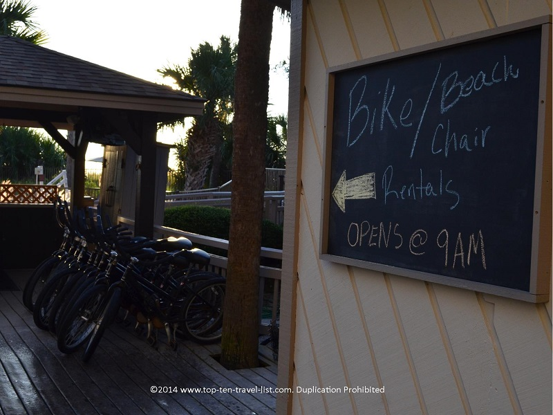 Beach and bike rentals at Omni Hilton Head Oceanfront Resort in Hilton Head Island, South Carolina