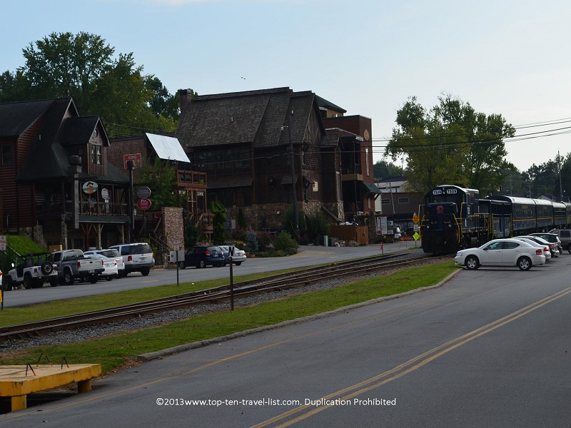 Historic downtown Blue Ridge and the Blue Ridge Scenic Railway