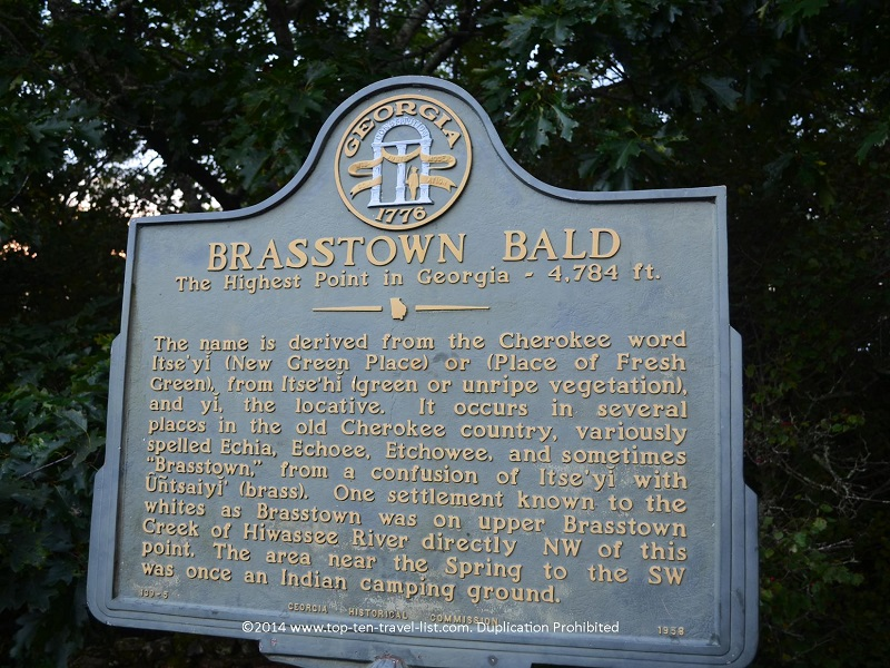 Brasstown Bald - the highest point in Georgia