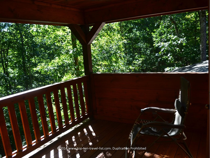 Deck of Appalachian Promise - Mount Laurel Cabin Rentals in Blue Ridge, Georgia
