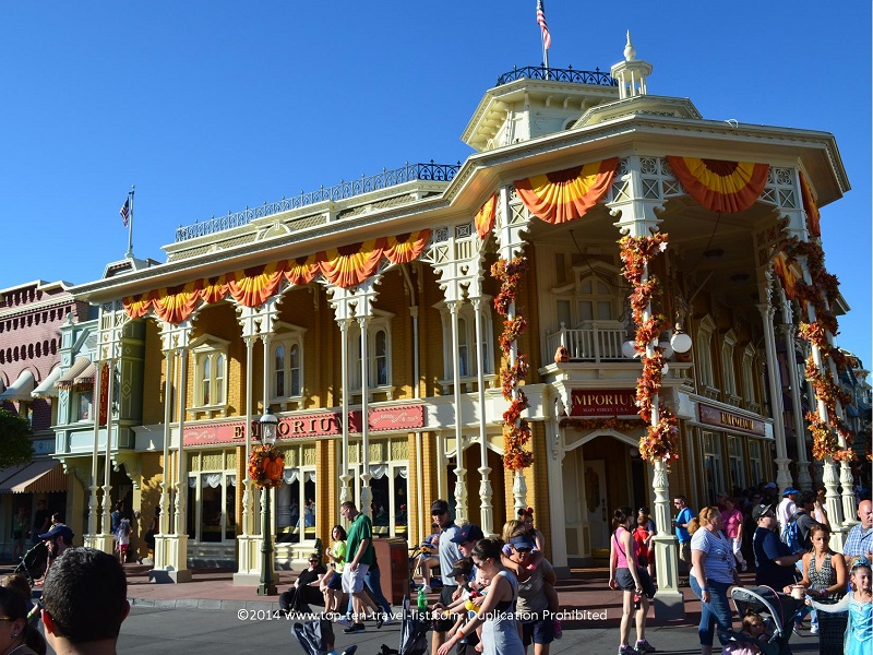The Emporium at the Magic Kingdom at Halloween time