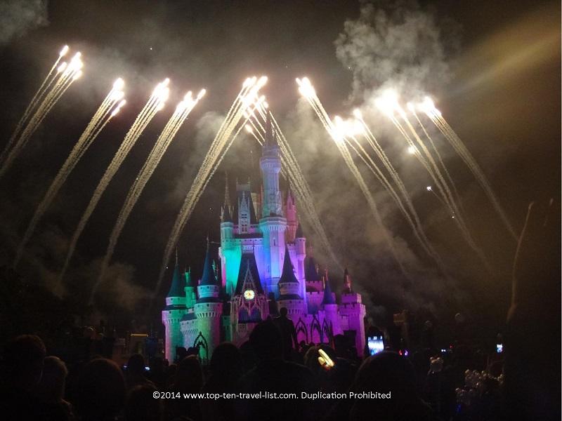 Hallowishes show at the Magic Kingdom