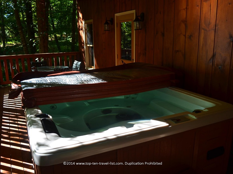 Hot tub at Appalachian Promise - Mount Laurel Cabin rentals in Blue Ridge, Georgia