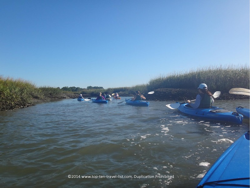 Beautiful marsh views while kayaking in Hilton Head Island, South Carolina