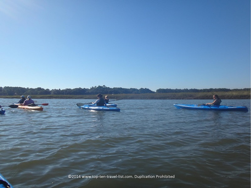 Scenic views while kayaking in Hilton Head Island, South Carolina