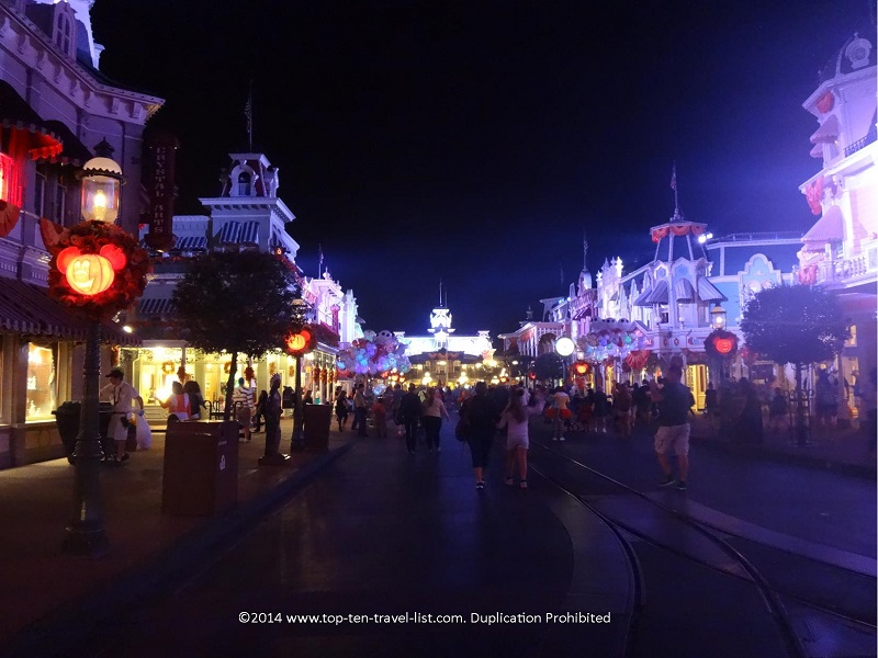 Magic Kingdom's Main Street during Mickey's Not So Scary Halloween Party