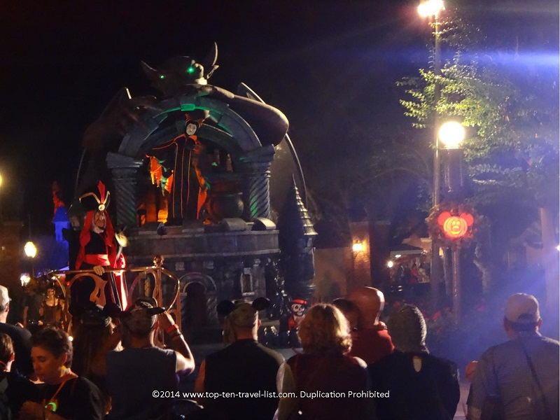 Maleficent float on Boo to You Halloween Parade at the Magic Kingdom