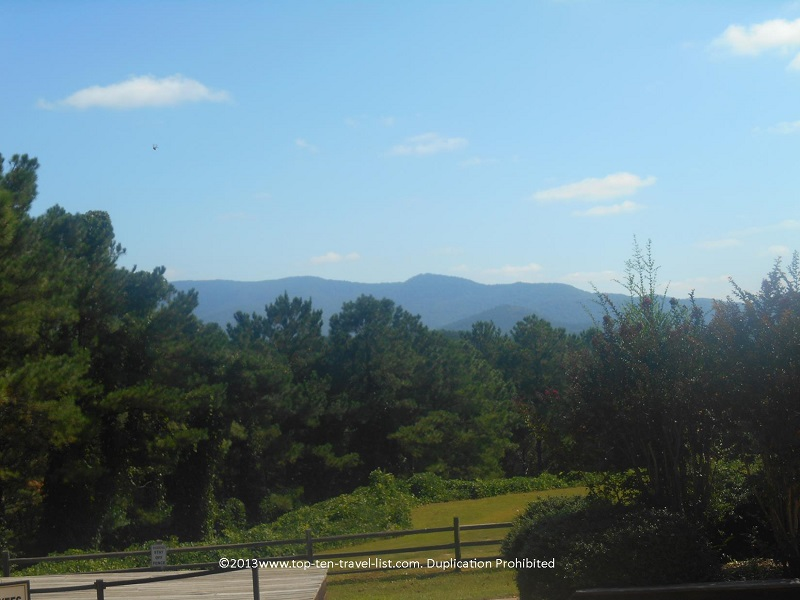 Pretty mountain views from Wildwater Ocoee